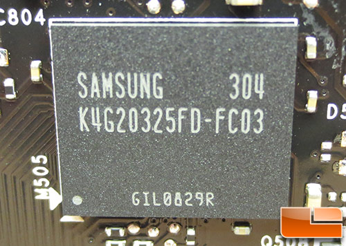Samsung GDDR5 Memory IC's