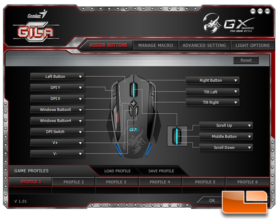 Genius Gila Gaming Mouse Software