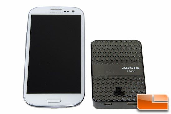 ADATA AE400 Side-By-Side With Samsung Galaxy S3