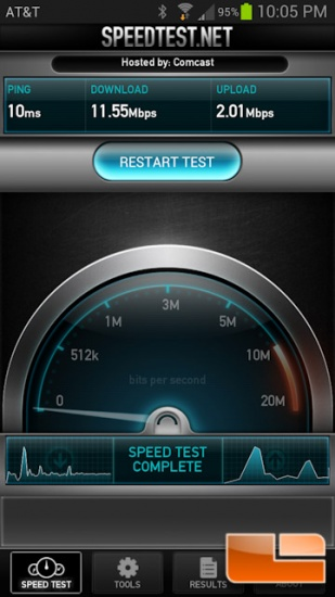 Internet Speed Test With ADATA AE400