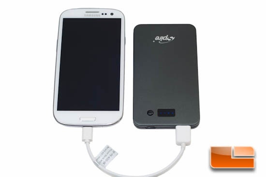 Spire Power Bank 4000 Charging