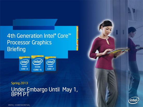 Intel 4th Generation Processor Graphics Slide