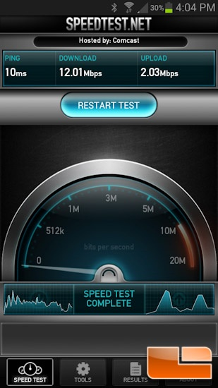 Kingston MobileLite Wireless Speedtest