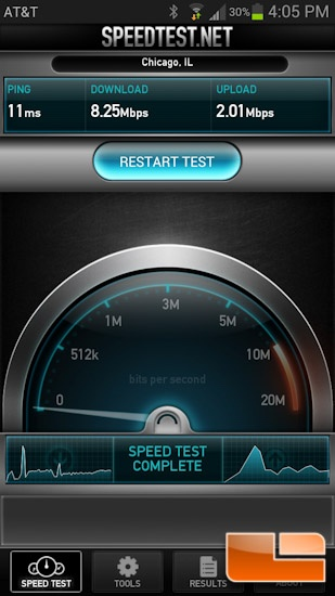 Kingston MobileLite Wireless 50 Foot Speedtest