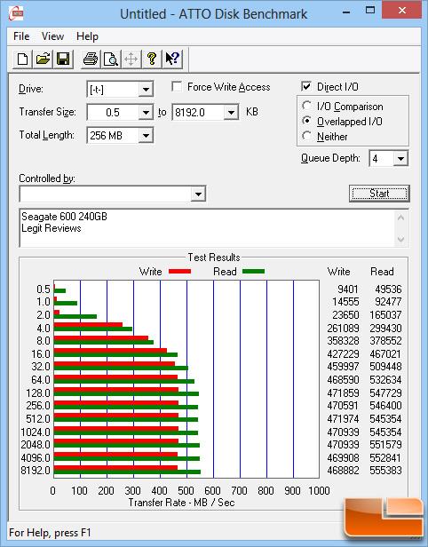 Seagate 600 240GB ATTO