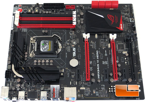 ASUS Republic of Gamers Maximus VI Hero Intel Z87 Motherboard Layout