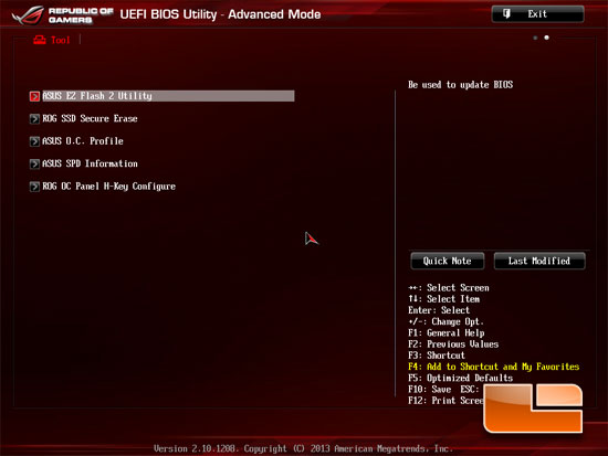 ASUS Republic of Gamers Maximus VI Hero UEFI BIOS