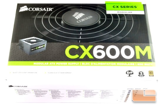 Corsair CX600M box