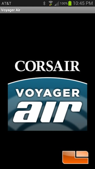 Corsair Voyager Air Software Splash