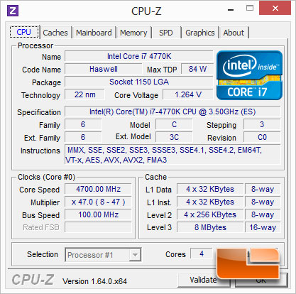 ASUS Z87-Pro Haswell Intel Core i7 4770K Overclocking