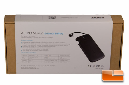 Anker Astro Slim2 Box Rear
