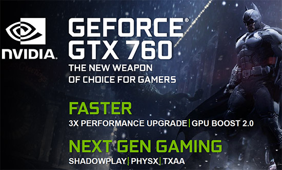 NVIDIA GeForce GTX 760 2GB Video Card Review