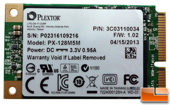 Plextor M5M 128GB mSATA SSD Review