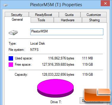 Plextor M5M 128GB mSATA Properties