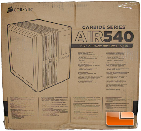 Corsair Carbide Air 540 Box Front