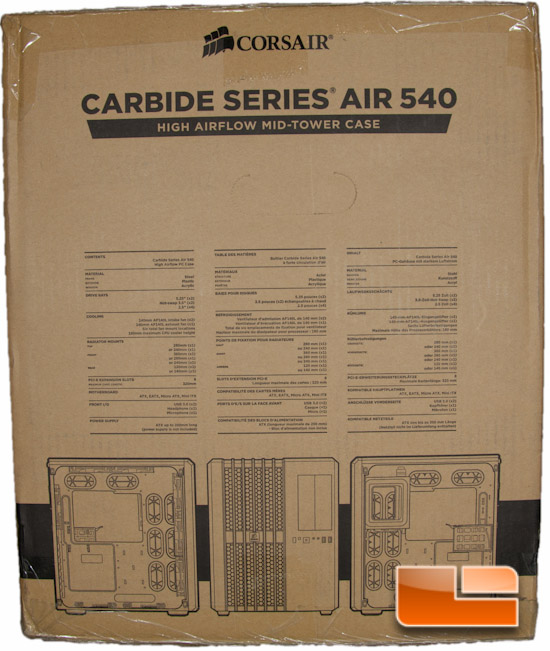 Corsair Carbide Air 540 Box Side