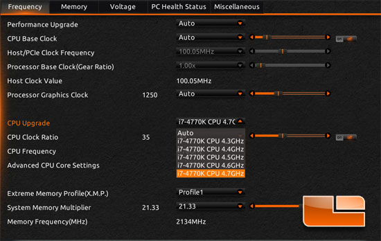 GIGABYTE Z87X-OC Force Overclocking