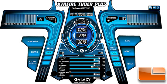 Galaxy XtremeTuner Plus Overclock