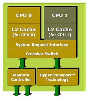 AMD64 core layout