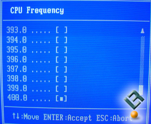 CPU Frequenices