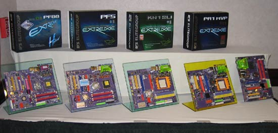ECS Editor's Day Motherboards