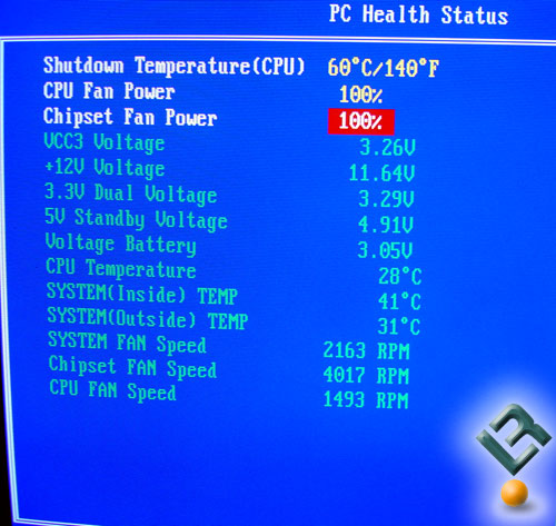 PC Health Screen