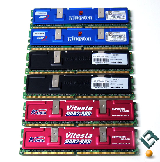 DDR2 800MHz Roundup: A-Data, Kingston, & Mushkin