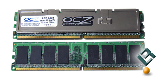 OCZ EB Platinum PC2-6400 Memory Modules