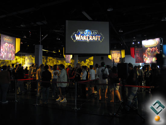 The line at Blizzcon to play the new WoW Expansion