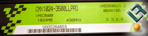 TWINX2048-3500LLPRO label