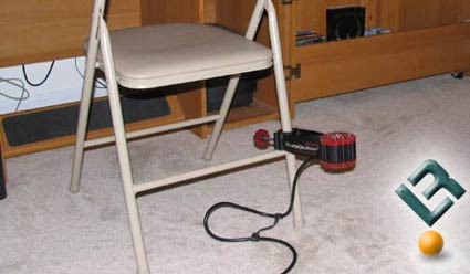 Buttkicker Gamer on Folding Chair