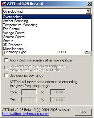 ATI Tool options