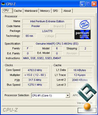 Increased Voltages and a 19% overclock on the Intel 955
