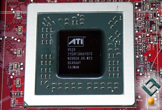 The ATI X1800 GTO R520 Core Picture
