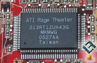 The ATI X1800 GTO R520 Rage Theatre Chip