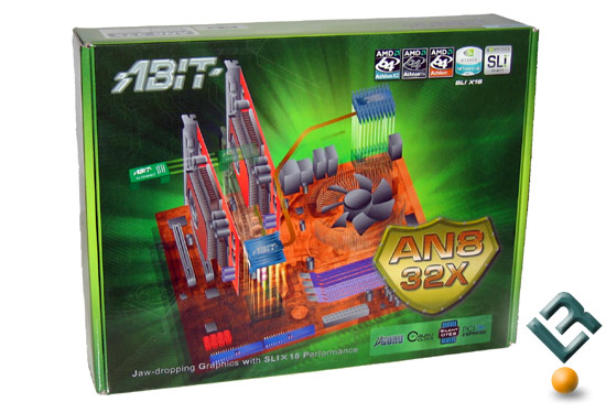 The ABIT AN8 32X SLI Motherboard Retail Box