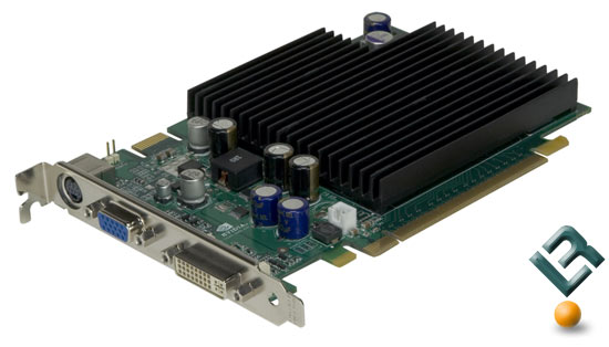 nVidia GeForce 7600 GS Video Card Side Shot