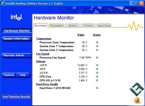 Intel 965 Idle Temperatures
