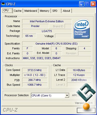 Intel Processor Identification Utility 2.6