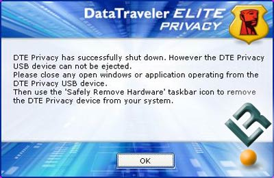 The Kingston 2GB DataTraveler Elite Privacy Edition USB Flash Drive