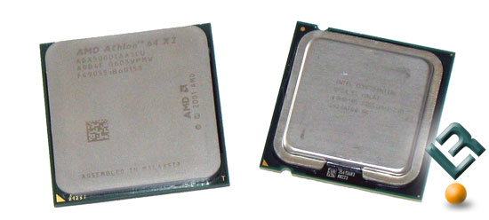 Intel E6600 and AMD 5000+ AM2