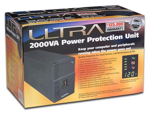 The Ultra 2000VA UPS Retail Box