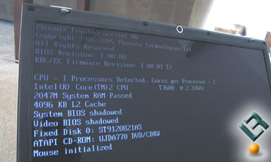 Correct BIOS Screen