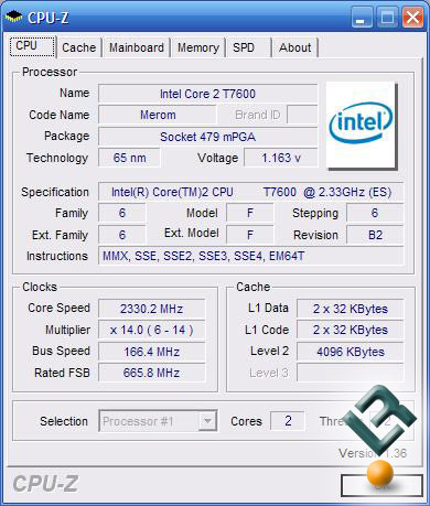 Merom CPU-Z Screenshot