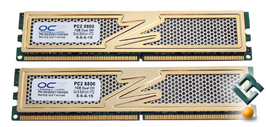 OCZ PC2-8800 DDR2 1100MHz Gold Memory Review