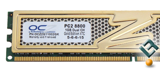 OCZ PC2-8800 Label