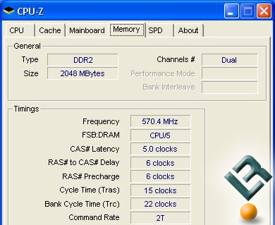 PC2-8888C4 Memory Overclocked to 1219MHz