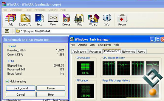 WinRAR on Quad-Core
