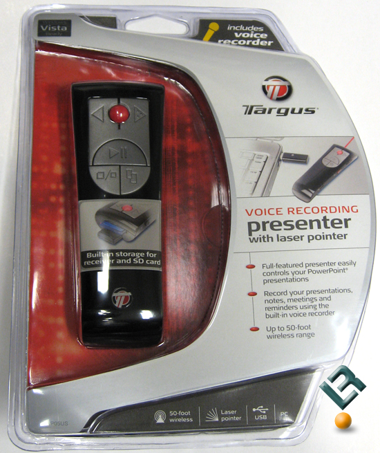 Targus Voice Recording Presenter w/ Laser Pointer