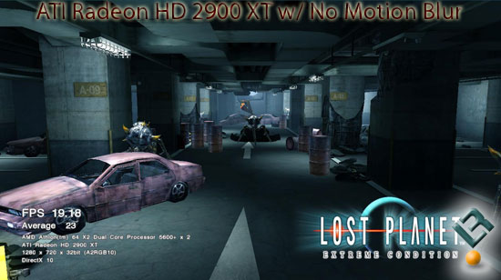 Lost Planet on ATI Radeon HD 2900 XT